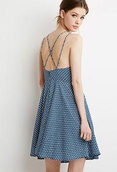 Contemporary Abstract Print Cami Dress