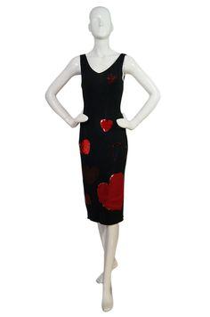 vintage moschino heart tank dress