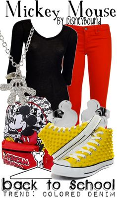 Mickey Mouse outfit by Disney Bound Disney World Outfits, Disney Themed Outfits, Casual Cosplay, Cosplay Outfits, Mickey Mouse Outfit, Mickey Mousr, Mickey Costume, Minnie Mouse, Gowns