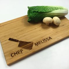 Cutting Board Personalized Wedding Gift Chefs Knife Chef Name Kitchen Tools Birthday Gift Laser Engraved Cutting Board Anniversary Gift