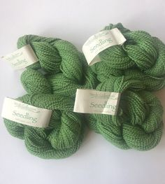5 Box Lot NIB HAND MADE MODERN Yarn 100/% Wool Green Ombre 150 yards