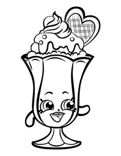 Suzie Sundae Printable Shopkins Season 3 Coloring Pages And Book To Print For Free Find More Online Kids Adults