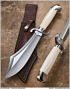 .I love the handle and guard, but not so thrilled with the blade shape.. added weight for no gain in cutting power.