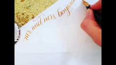 Creative Calligraphy envelope return address layout underway