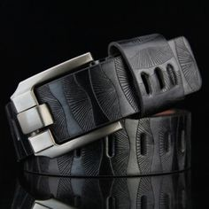 Share and Get It FREE Now | Join Gearbest |   Get YOUR FREE GB Points and Enjoy over 100,000 Top Products,Stylish Pin Buckle Stripy PU Wide Belt For Men