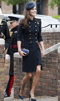 Kate Middleton in a military inspired jacket