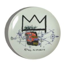 LACMA Store - Jean-Michel Basquiat King Alphonso Plate is made of French Limoges porcelain.