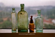 love old medicine bottles. have high hopes that my mother will someday share her bottle collection with me :)