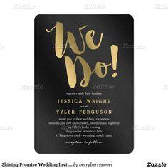 Shining Promise Wedding Invitations