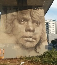 In Merivale St, South Brisbane by Guido Van Helton - Painted for the Pillars Project initiative and based on a collaboration with Michael Aird from Keeaira Publishing and the Queensland museum. Street Art Banksy, Street Mural, Graffiti Artwork, Art Mural, Chalk Art, Wire Art, Street Artists, Public Art, Urban Art