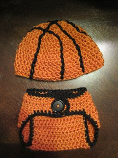 Baby Basketball Beanie and Diaper Cover Set  FT027 by FischTales
