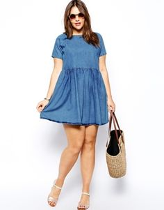 I'm sewing this dress sometime this week. ASOS CURVE Smock Dress In Denim #spon