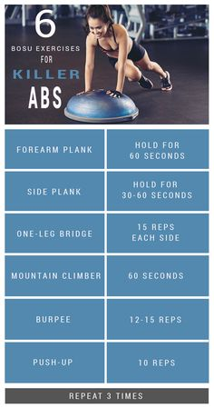 Abs with a bosu ball