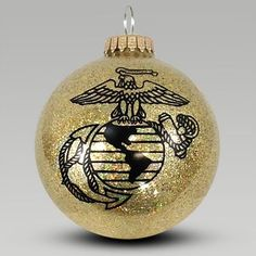 Official US Army, Navy, Air Force and Marines Military Merchandise Glitter Ornaments, Diy Christmas Ornaments, Christmas Bulbs, Christmas Decorations, Christmas Adam, Clear Ornaments, Ornaments Ideas, Xmas, Country Christmas