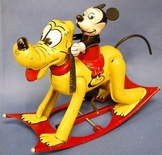 Learn about your collectibles, antiques, valuables, and vintage items . Vintage Mickey Mouse, Mickey Mouse And Friends, Minnie Mouse, Metal Toys, Tin Toys, Vintage Tins, Vintage Dolls, Disney Toys, Punk Disney