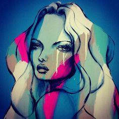 http://lespapierscolles.wordpress.com/2013/04/16/anya-brock/  Anya Brock #graphisme #illustration #painting #art #couleur