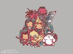 Cute Fantasy VII T-Shirt - http://teecraze.com/cute-fantasy-vii-t-shirt/ -  Designed by jml2art