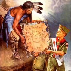 Uncas, son of Chingachgook Chief of the Lenni Lenape tribe. Presents the legend to a young Scout. Forming the basis for the Order of the Arrow.