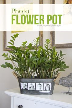 DIY Photo Flower Pot (...fun for Mother's Day!) | Make It and Love It