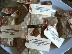Thanksgiving treat handout by Marci Coombs