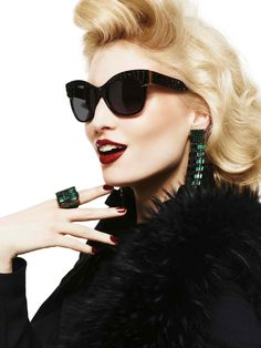 Roberto Cavalli FW 2012-13 collection. #sunglasses #jewels #fashion #black