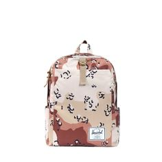"""Herschel Acre backpack, 15"""" height × 11"""" width × 5"""" depth. The desert camo print is great. $50 #backpack #print"""
