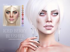Iced Berry Blusher N26 by Pralinesims at TSR via Sims 4 Updates