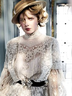 "suchaprettyworld: Rachel Hurd-Wood by Erez Sabag // Instyle Uk March 11 // Styled by Natalia Belozerova. "" ""Un certain romantisme sommeille au coeur de toute femme"" (Eve Belisle) "" Rachel Hurd Wood, Steampunk Fashion, Victorian Fashion, Vintage Fashion, Victorian Lace, Victorian Blouse, Edwardian Style, Vintage Outfits, Pearl And Lace"