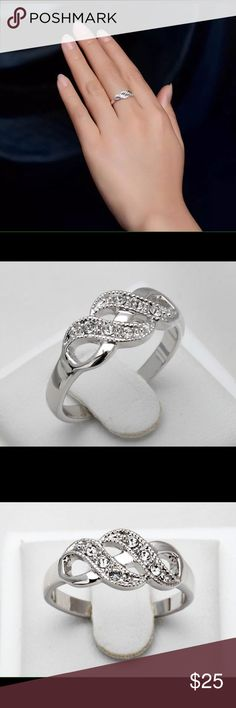 Platinum Plated Ring New, no box, size 8, great gift Jewelry Rings