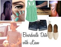 """""""Boardwalk Date With Liam"""" by directioner1011 ❤ liked on Polyvore"""