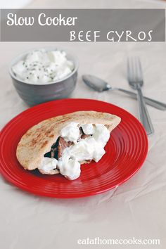 Slow Cooker Beef Gyros - 75 Days of Summer Slow Cooker Recipes