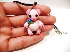 Little Pig Necklace Choose Your Color by TheWhimsyWish on Etsy