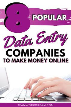 Learn all you can about the best remote data entry jobs you can start to do at home. Work at home for a number of popular online companies offering data entry jobs. #dataentry #dataentryjobs #remotedataentryjobs #dataentrycompanies #makemoneyonline #workfromhomeideas #workfromhomejobs #sidehustles Earn Money From Home, Make Money Online, How To Make Money, Online Data Entry Jobs, Online Jobs, Online Work From Home, Work From Home Tips, Data Binders, Typing Skills