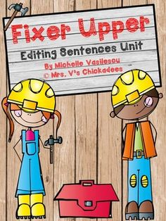 """Fixer Upper"" is a great way to practice editing work. Students learn to recognize common mistakes in punctuation, spacing, and capitalization. These activities help students when they are writing,as they will begin to edit their own work and correct their own errors."