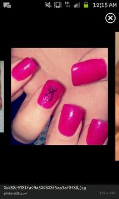 Cute browning nail design