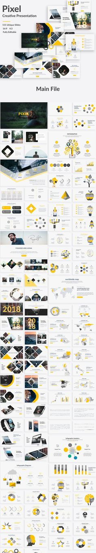 Pixel Creative Keynote Template by One Percent Studio on @creativemarket