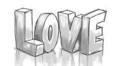 How to Draw 3D LOVE Graffiti Letters - YouTube