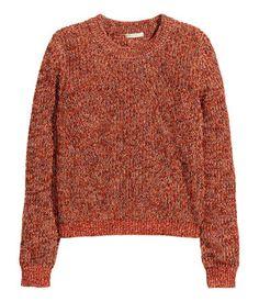 Schwarz. Gerippter Pullover aus Baumwollmischung.