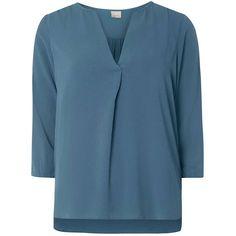 Dorothy Perkins **Vero Moda peacock wrap tunic ($29) ❤ liked on Polyvore featuring tops, tunics, blue, blue tunic, blue top, dorothy perkins, wrap tunic and peacock tunic