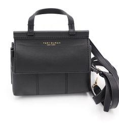 Nwt Tory Burch Block T Mini Black Leather Crossbody Satchel Bag New 36777 Toryburch