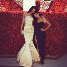 Kendall showed off the height difference between herself and big sister Kim Kardashian while at the 2015 Met Gala. Photo: Instagram
