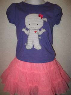 Halloween Cute Girl Mummy Glow In the dark Shirt by rowanmayfairs, $26.00