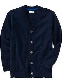 Boys Button-Front V-Neck Cardigans