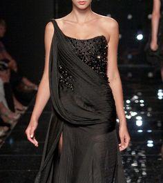 wov black evening gown dress