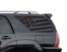 American Flag Decals in Matte Black for side windows TFW3A Toyota 4Runner