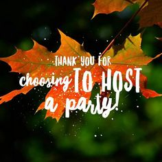 Arbonne Party, Interactive Facebook Posts, Holiday Party Themes, Traveling Vineyard, Mary Kay Party, Facebook Party, Pure Romance, Host A Party, Autumn Theme