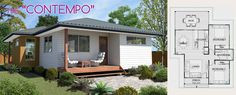 The Contempo by Lifestyle Granny Flats. Large and open plan #grannyflat with optional back deck for even more living space.