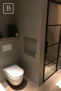 Simple Bathroom Designs, Bathroom Design Layout, Bathroom Design Inspiration, Bathroom Interior Design, Wc Design, Toilet Design, Bathroom Toilets, Small Bathroom, Classic Kitchen Cabinets