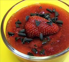 Strawberry Pudding from Food.com:   What an unusual use for this glorious summer fruit!  A Danish recipe that I thoroughly enjoyed.  Though the original recipe called for vanilla, I found that the lemon zest did more to perk up the flavor of the berries. Cooking time does not include cooling time.