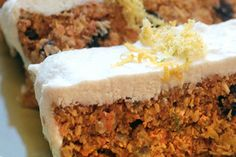 Carrot cake with cashew coconut icing